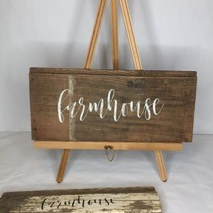 "Reclaimed Barn Wood ""Farmhouse"" Signs"